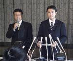 民主党離党を発表する石川議員.jpg